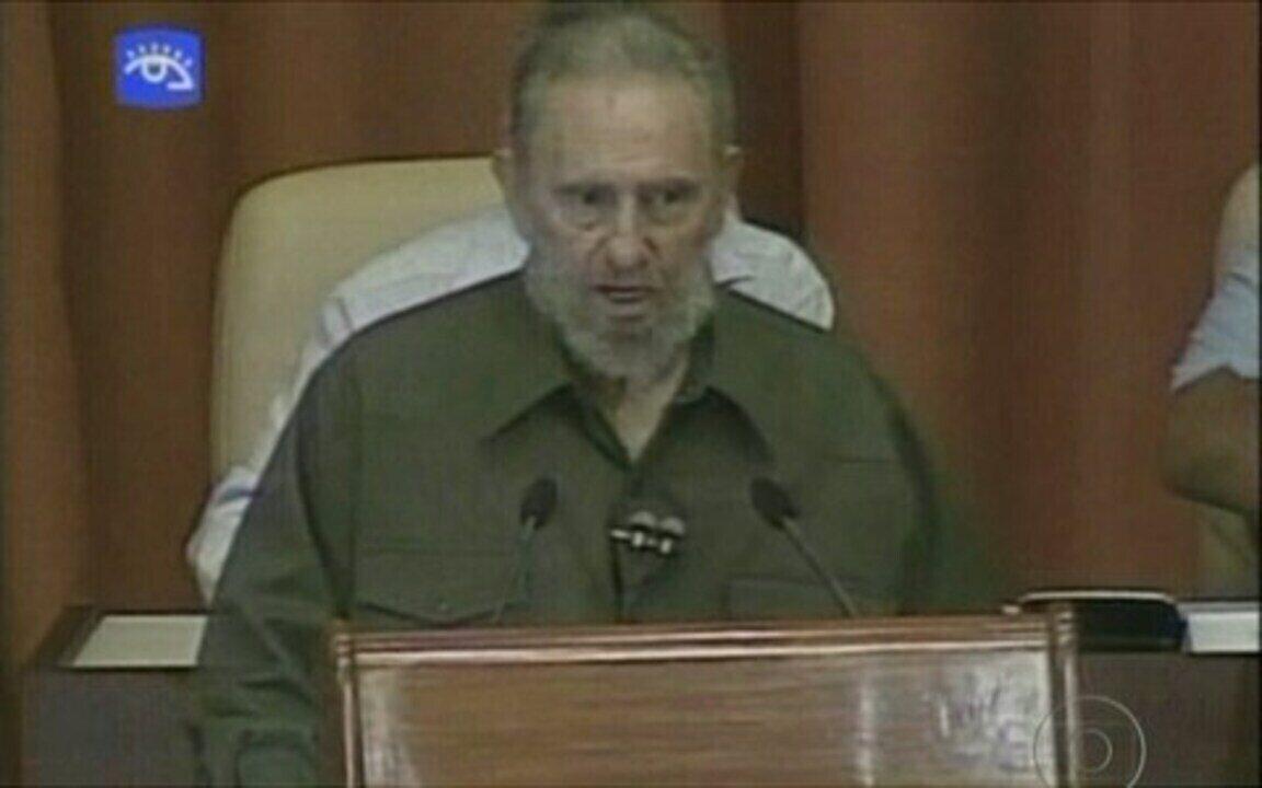 Após 4 anos, Fidel discursa no parlamento cubano