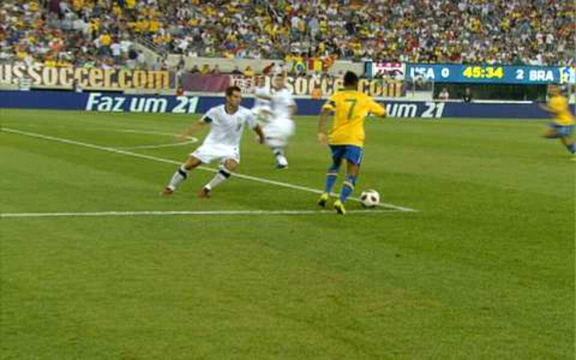 Melhores momentos  EUA 0 x 2 Brasil em amistoso da Seleção Brasileira em  2010 2f2cb25f0db4a