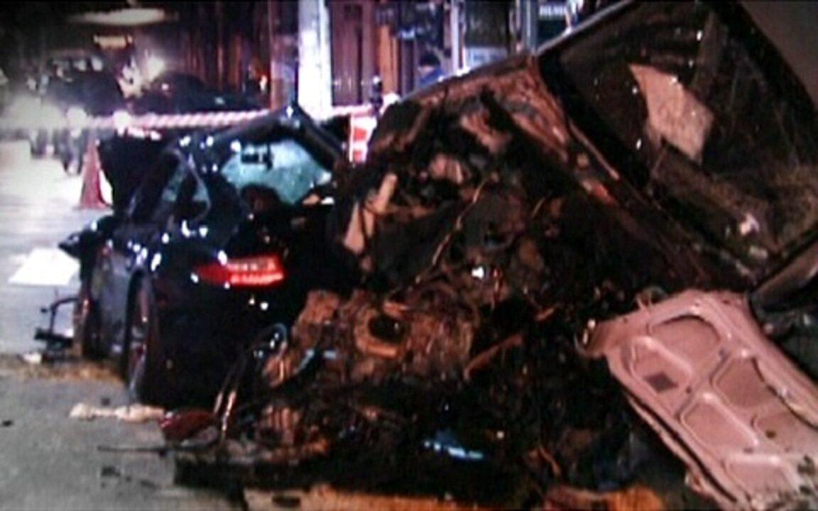 Imagens registram acidente entre carros que matou jovem em SP