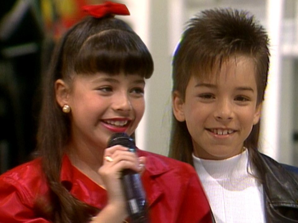 Faustão 1993 - Sandy e Junior