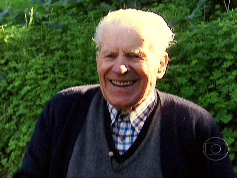 Homem de 93 anos encontrou nas plantas receita para longevidade