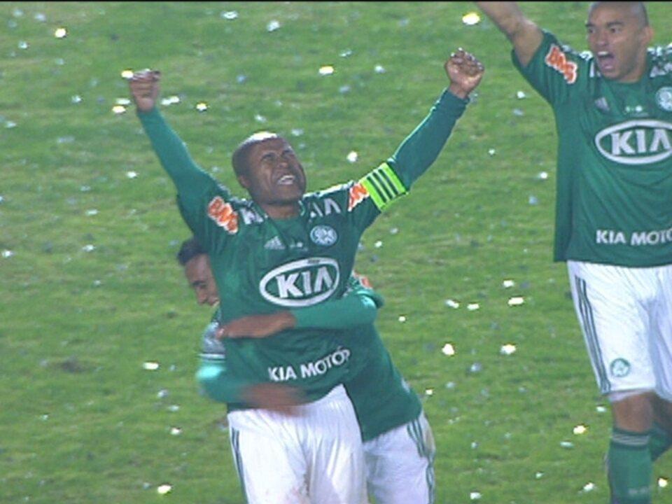 Os gols de Coritiba 1 x 1 Palmeiras pela final da Copa do Brasil 2012