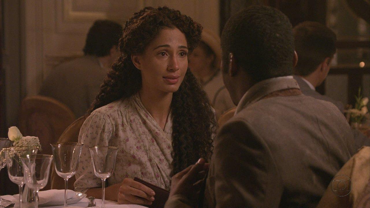 Lado a Lado, capítulo de terça-feira, dia 11/09/2012, na íntegra - Isabel se desculpa com Zé Maria, que se apaixona ainda mais3