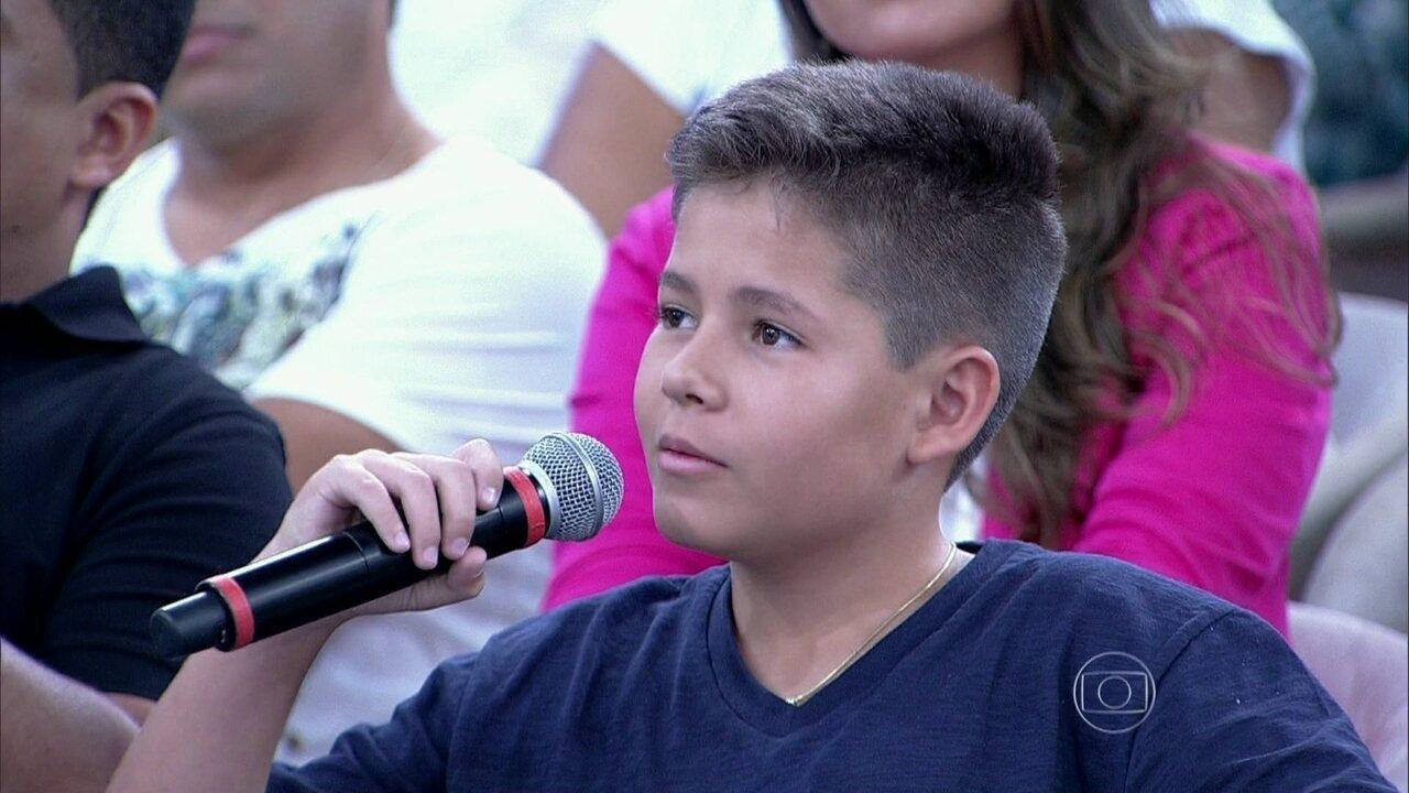 Em fevereiro de 2014, o pequeno Pedro Lucas contava sua história no programa da Fátima Bernardes