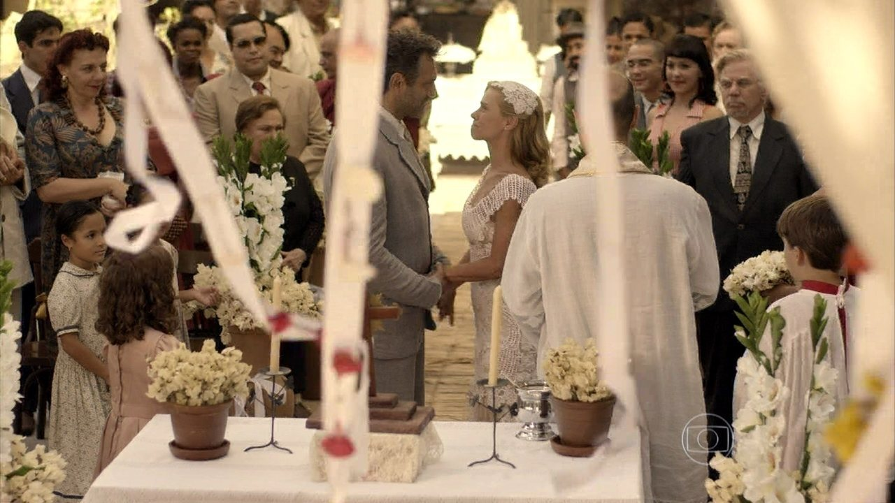 Joia rara - capítulo de quarta-feira, dia 19/02/2014, na íntegra - Mundo e Iolanda se casam