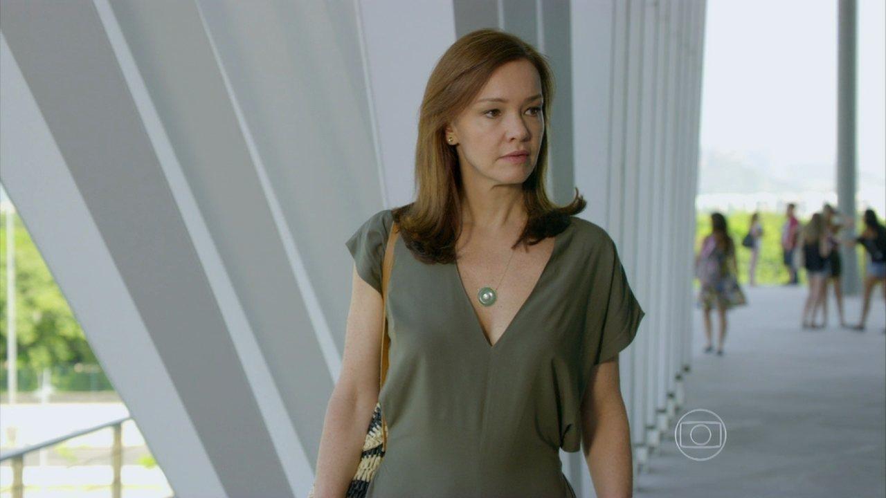 Em Família - Capítulo de quarta-feira, dia 19/02/2014, na íntegra - Helena vê Luiza conversando com Laerte