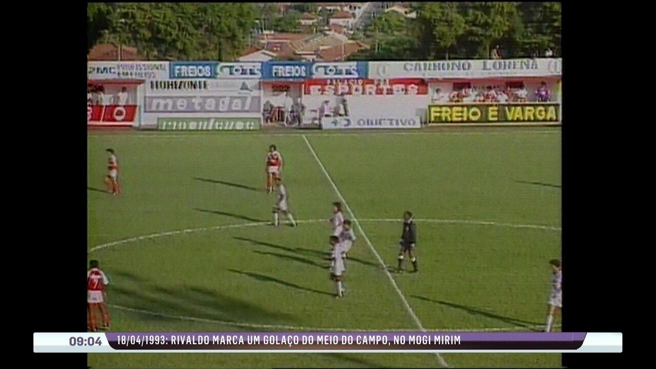 Túnel do tempo: Há 21 anos, Rivaldo marcava um golaço do meio de campo pelo Mogi Mirim