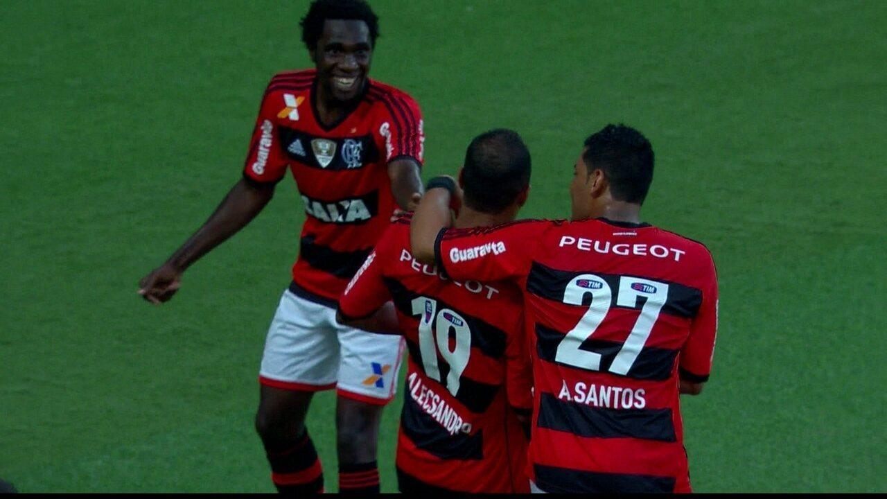 Flamengo 4 x 2 Palmeiras pela 3ª rodada do Brasileirão 2014