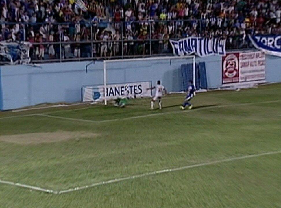 Geraldo marcou o segundo gol do Estrela, na vitória de 3 a 0 sobre o São Mateus, pela semifinal do Campeonato Capixaba 2014