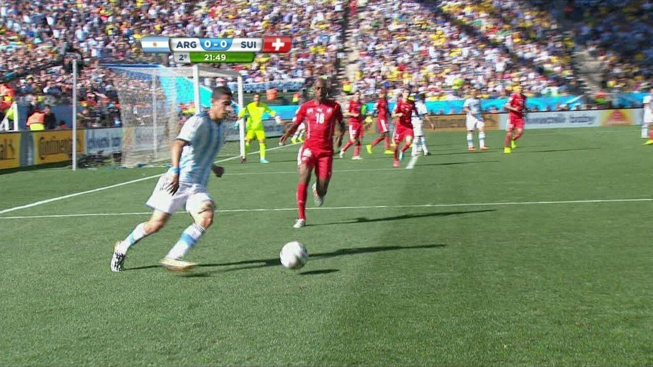 Na última Copa, a Argentina eliminou a Suíça ao vencê-la por 1 a 0 nas oitavas de final