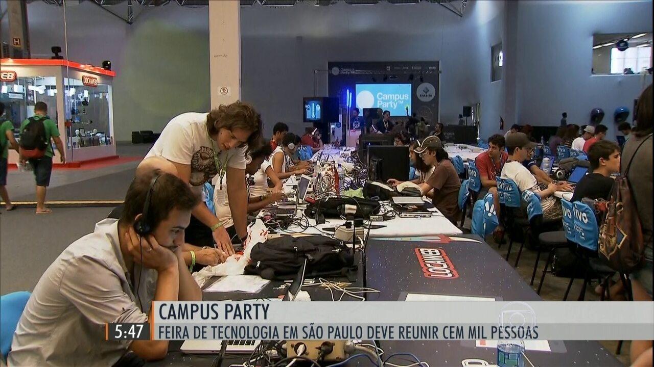 Campus Party, feira de tecnologia, deve reunir 100 mil pessoas em SP