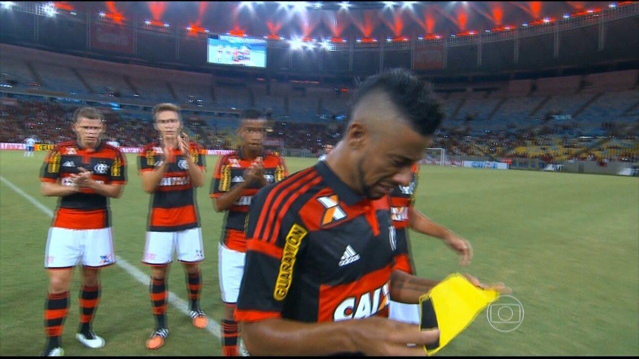 Leo Moura se despede do Flamengo