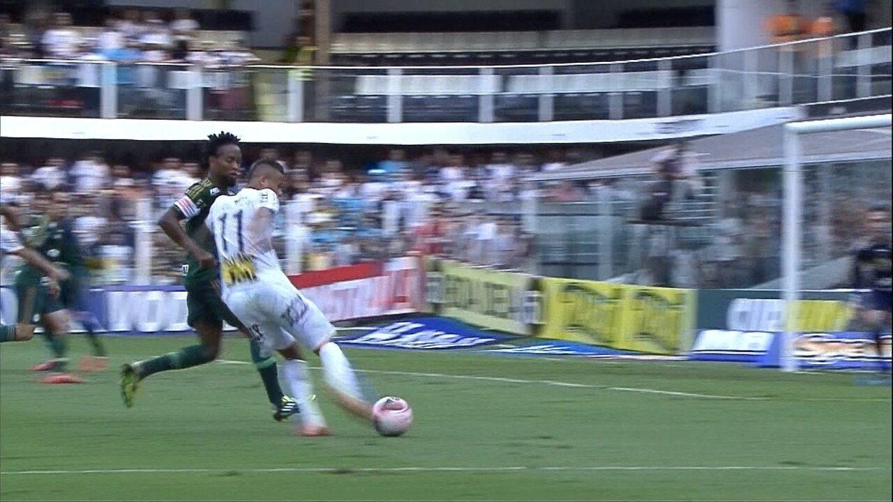 Melhores momentos de Santos 2 (4) x (2) 1 Palmeiras pela final do Paulistão 2015
