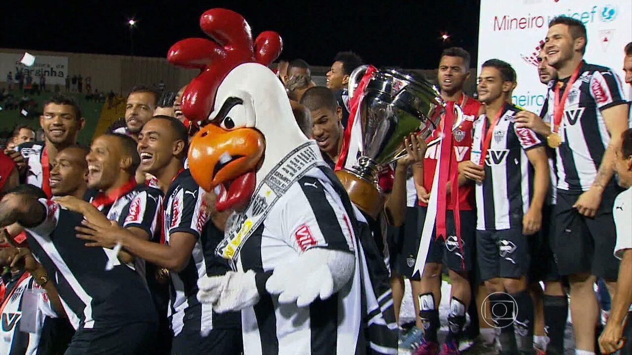 Atlético-MG vence a Caldense em Varginha, por 2 a 1, e se sagra campeão Mineiro 2015
