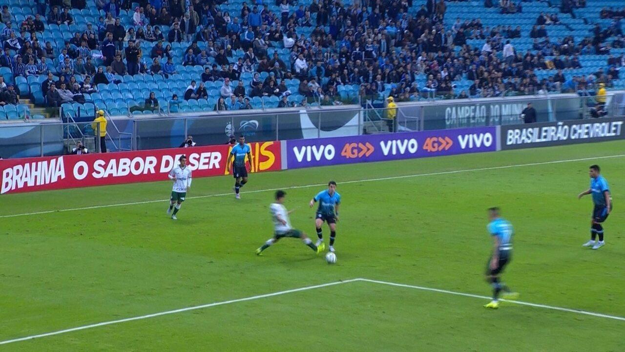 Melhores momentos: Grêmio 1 x 0 Palmeiras pela 8ª rodada do Brasileirão 2015