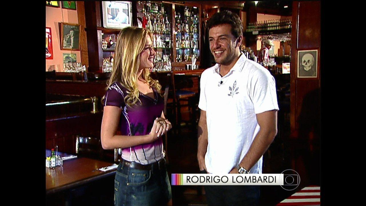 Reveja reportagem de antes da fama com Rodrigo Lombardi