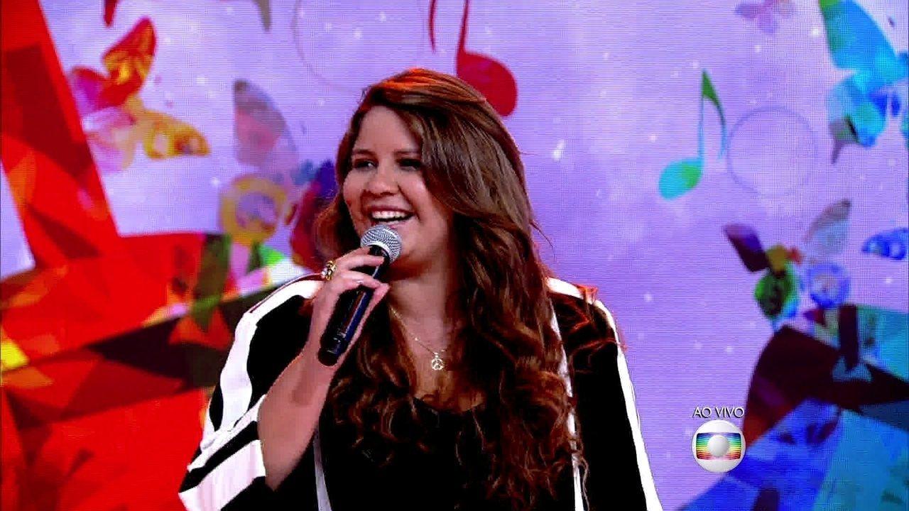 Marília Mendonça canta no 'Encontro'