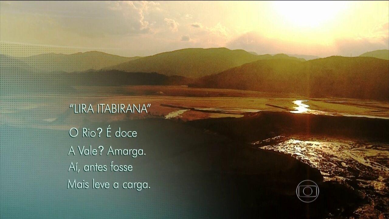 Poesia de Carlos Drummond de Andrade descreve a importância do Rio Doce