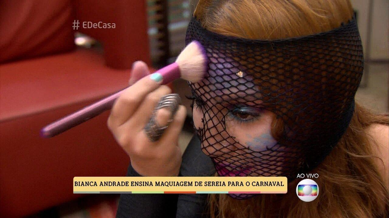Bianca Andrade dá dicas de maquiagem para o Carnaval