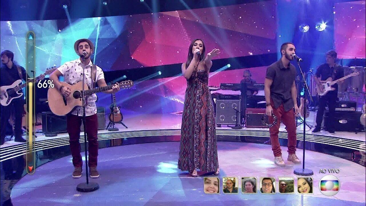 Melim canta 'Como é Grande o Meu Amor Por Você/Super Duper Love'