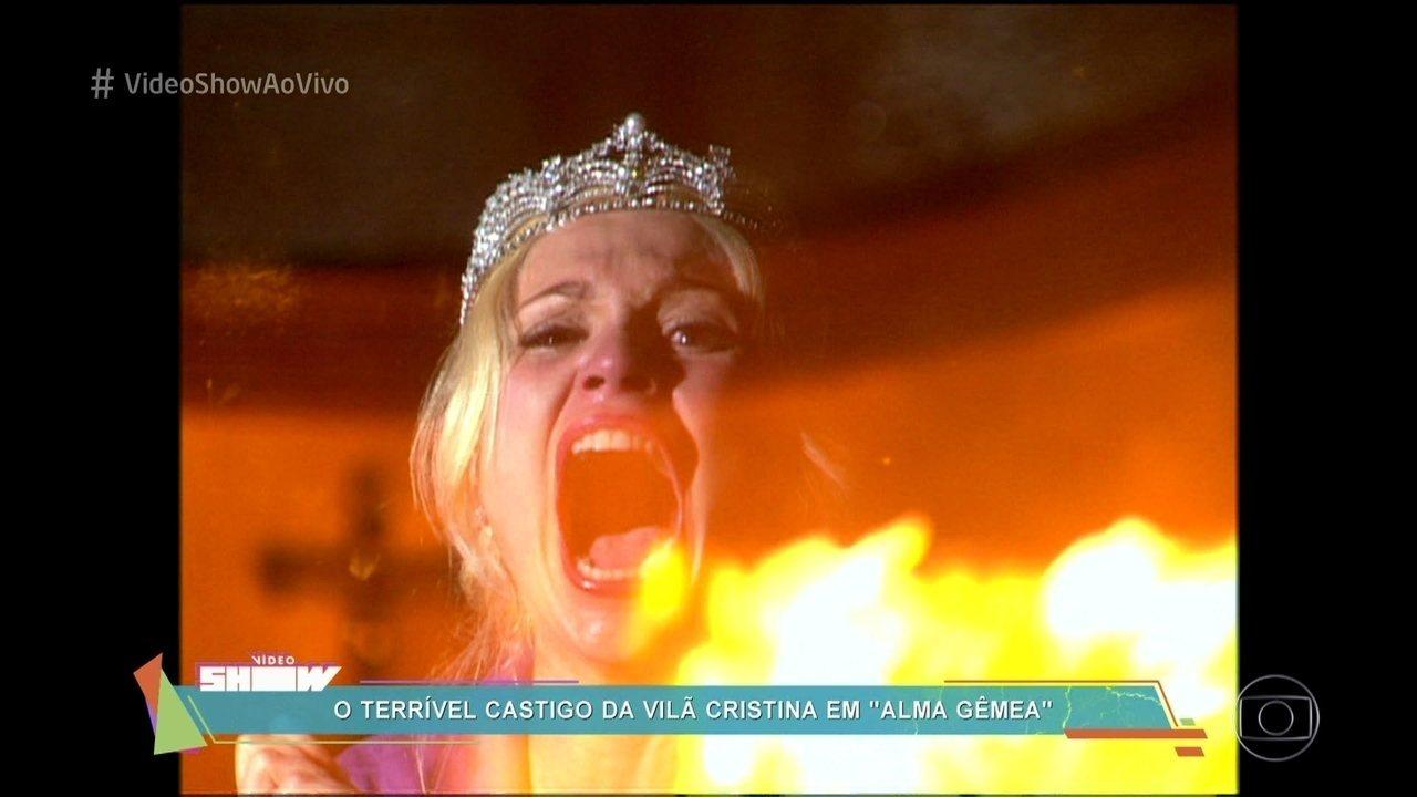 Relembre o castigo de Flávia Alessandra em 'Alma Gêmea'