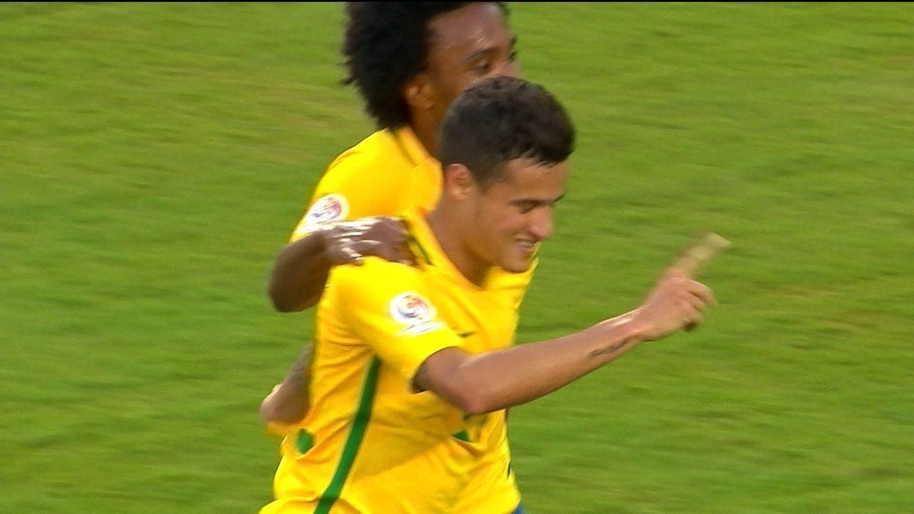 Os gols de Brasil 7 x 1 Haiti pela Copa América Centenário