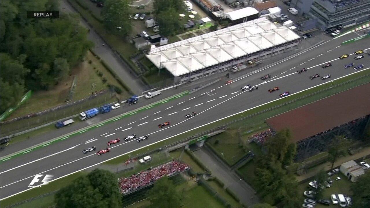 Confira a largada do GP da Itália por vários ângulos