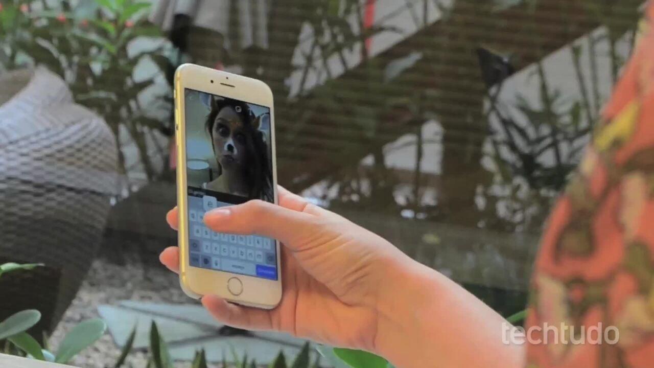 Como enviar fotos da galeria pelo Snapchat