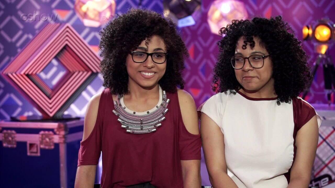 Lilian e Layane falam sobre emoção na Audição às Cegas