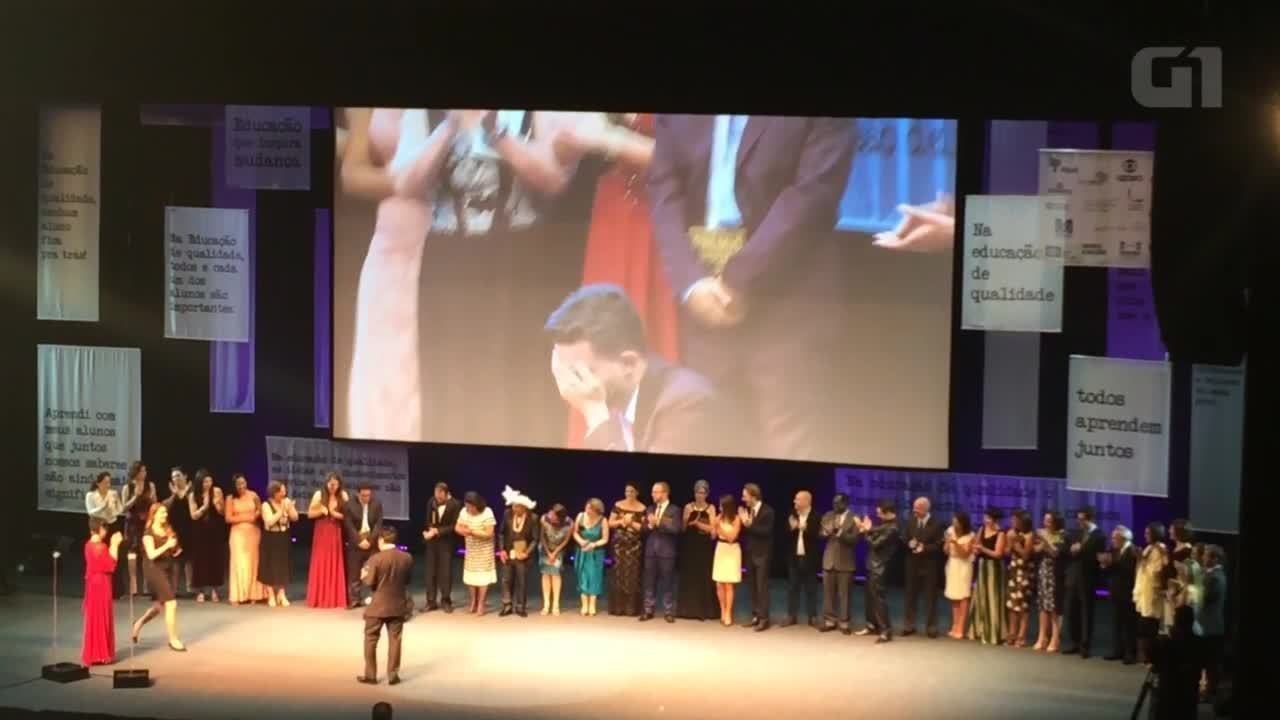 Professor do ES vence o prêmio Educador Nota 10 de 2016