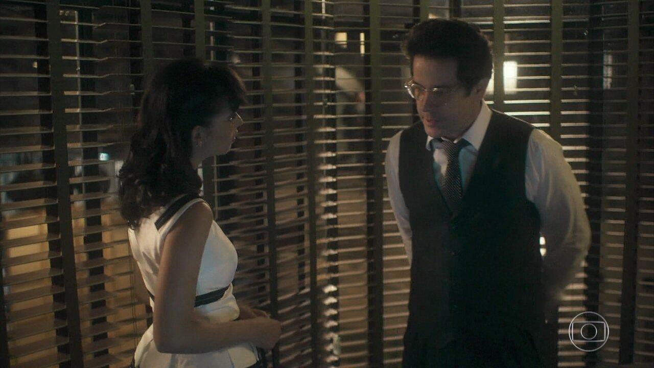 Laura assedia Saulo e faz denúncia grave contra o empresário
