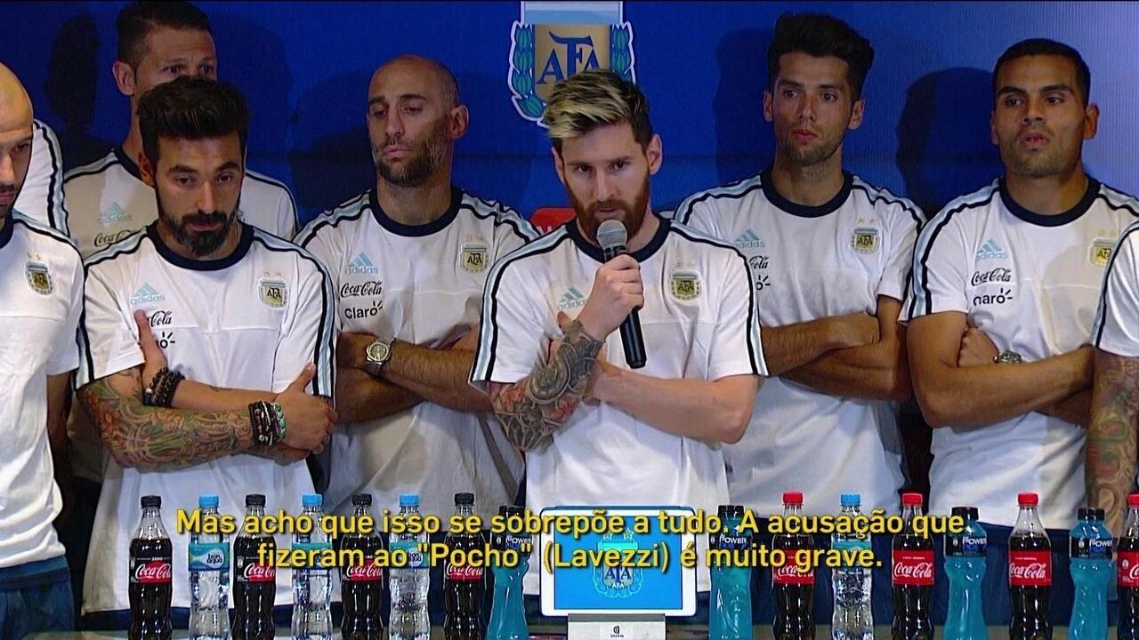 Liderado por Messi, jogadores da seleção argentina anunciam que não falarão mais com a imprensa