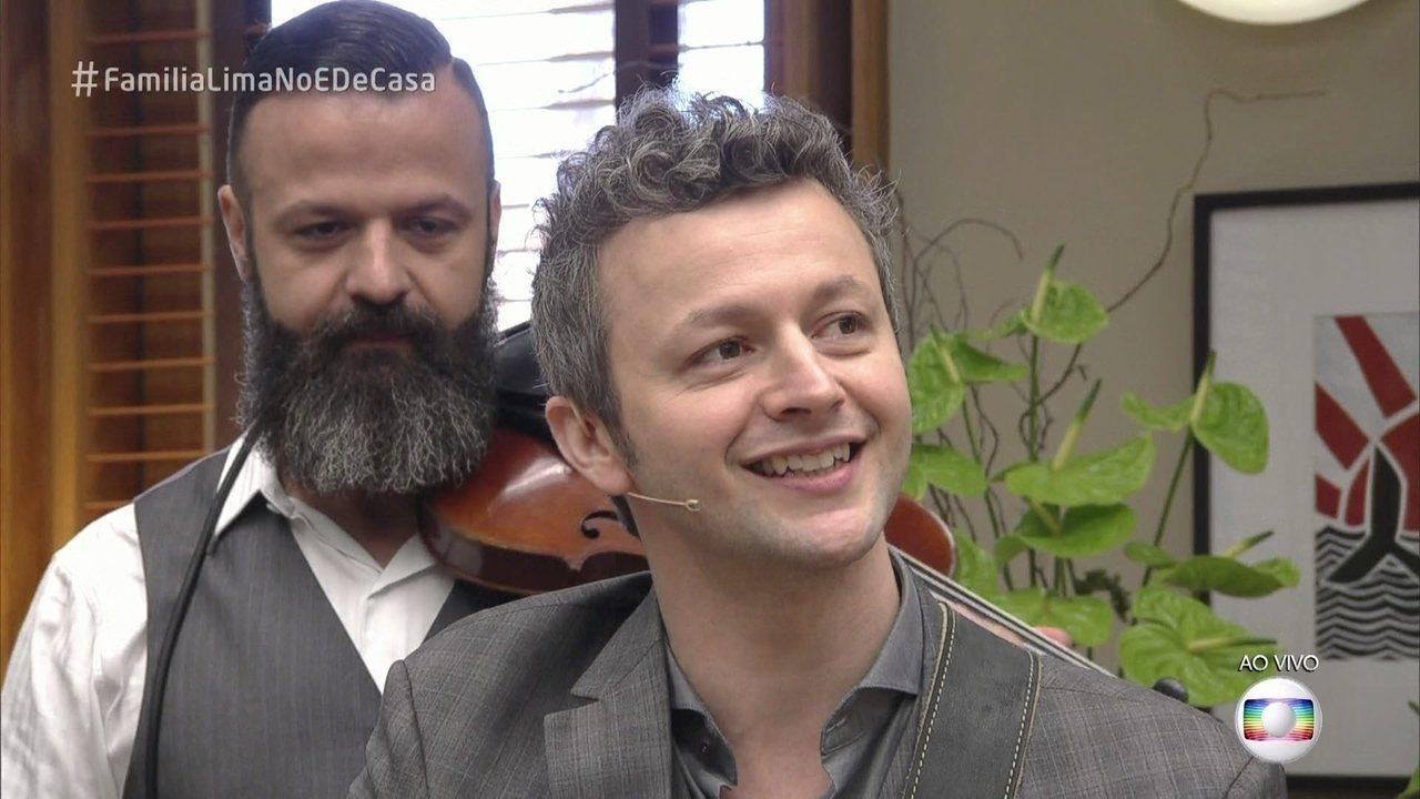 É de Casa | Lucas Lima conta que emocionou Sandy com a música 'Meu Guri'