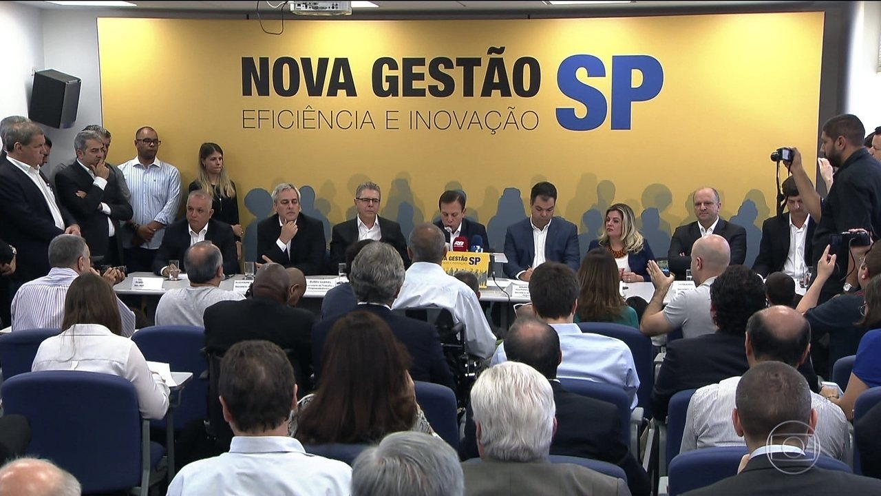 João Doria, do PSDB, anuncia seis novos secretários e fecha primeiro escalão do governo