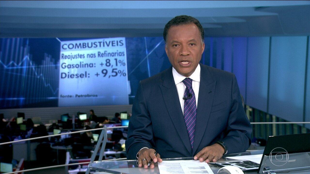 Petrobras decide aumentar o preço da gasolina e do diesel nas refinarias
