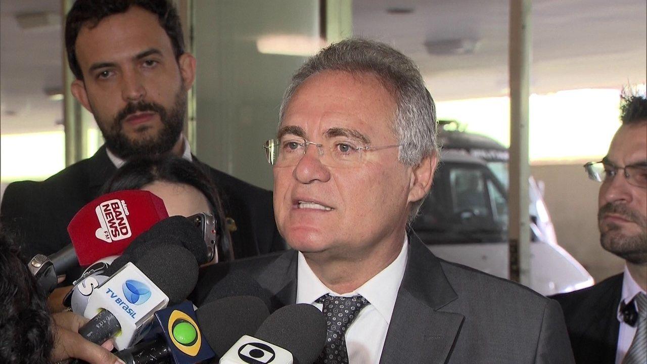 Renan Calheiros faz críticas ao Ministério Público ao procurador-geral da República