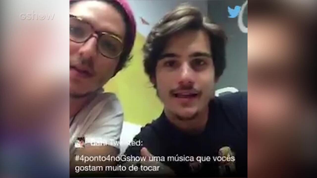 Nicolas Prattes e João Vitor Silva respondem fãs pelo Twitter do Gshow