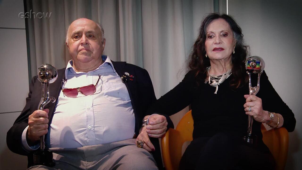 Mauro Mendonça e Rosamaria Murtinho comentam Troféu Mário Lago