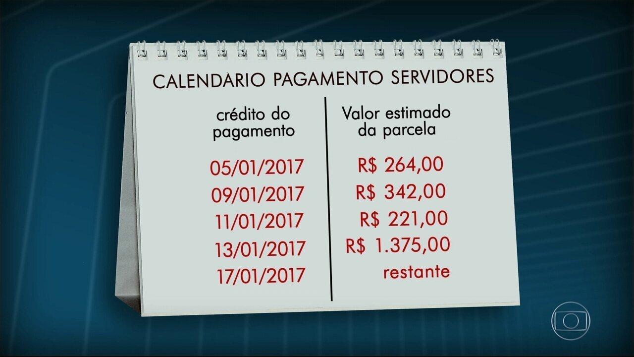 Governo do RJ divulga novo calendário de pagamento do salário de novembro dos servidores