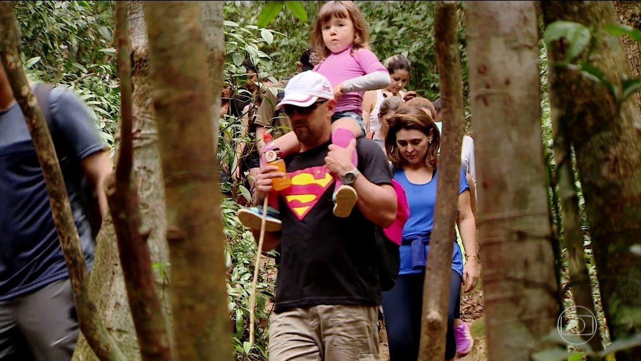 Fazer trilha vira mania em Florianópolis