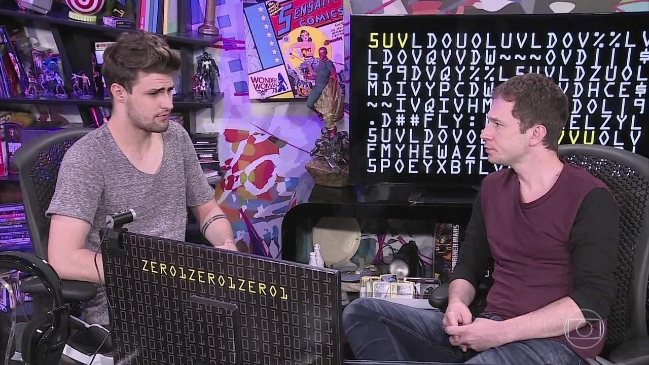 Tiago Leifert entrevista o youtuber RezendeEvil