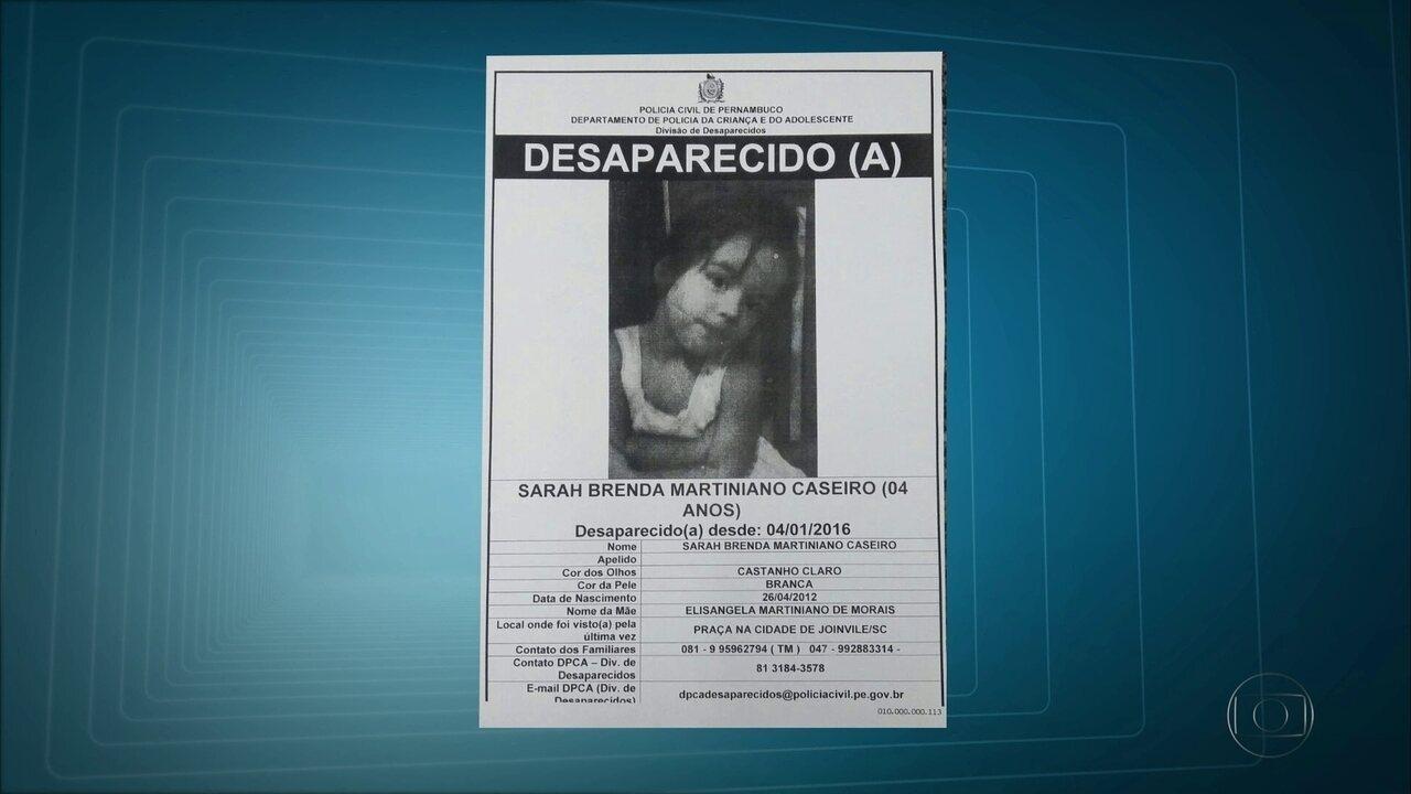 Para tentar localizar menina levada pelo pai, polícia distribuirá cartazes em Ipojuca