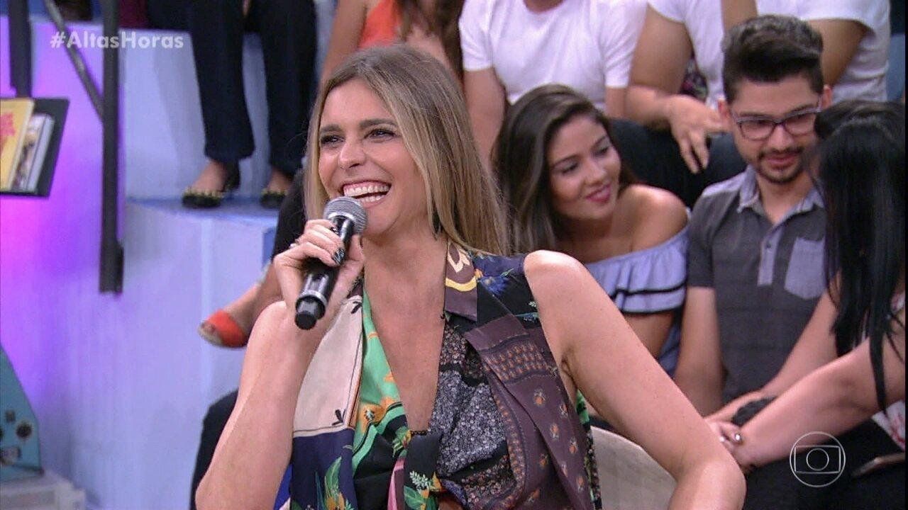 Plateia faz perguntas a Fernanda Lima sobre sexo