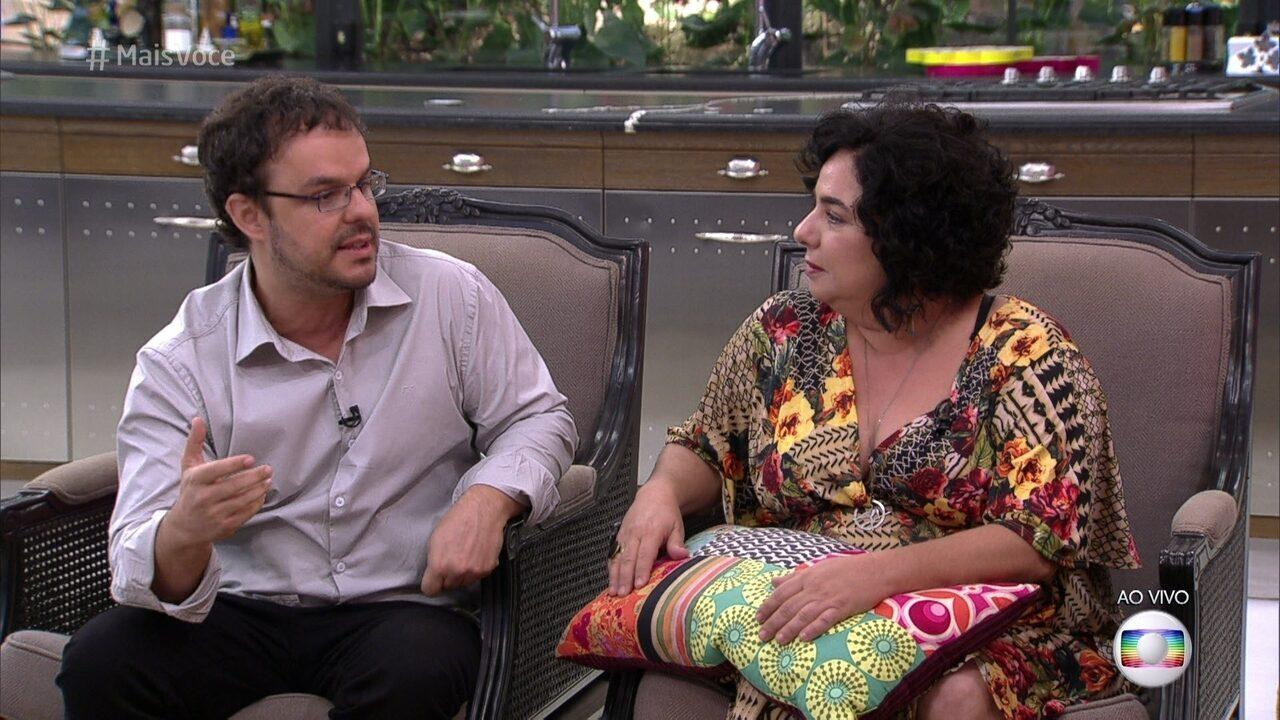 Adrilles e Mariza conversam sobre a convivência no Big Brother Brasil