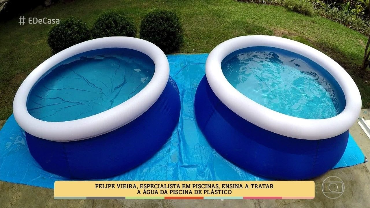 De casa especialista em piscinas ensina a tratar a for Albercas de plastico intex
