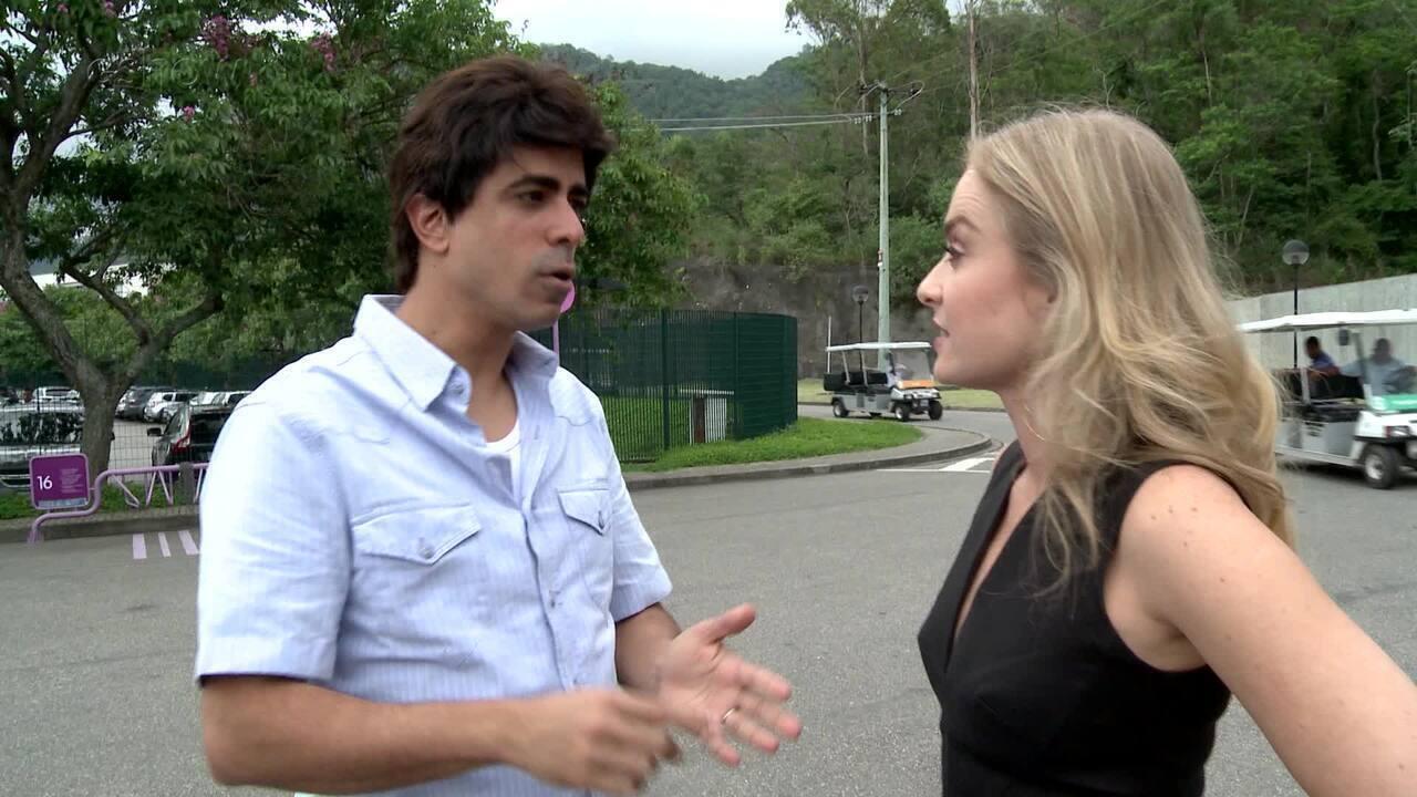 Angélica e Marcius Melhem conversam sobre gravação de 'Tá no ar'