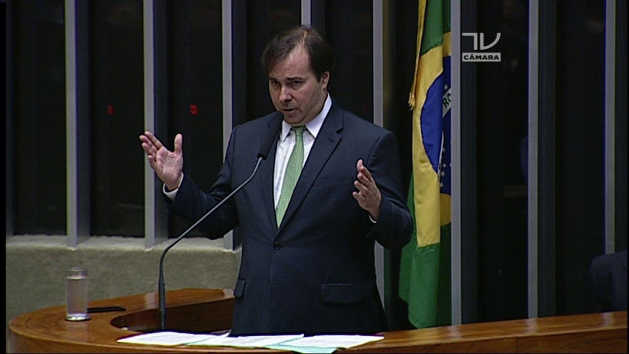 Veja o discurso de Rodrigo Maia (DEM-RJ) à presidência da Câmara dos Deputados