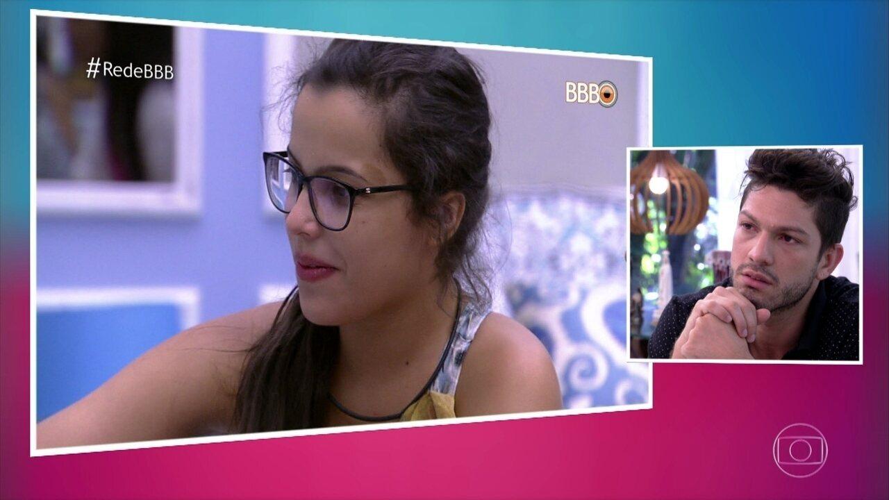 Luiz Felipe explica discussão com Mayla
