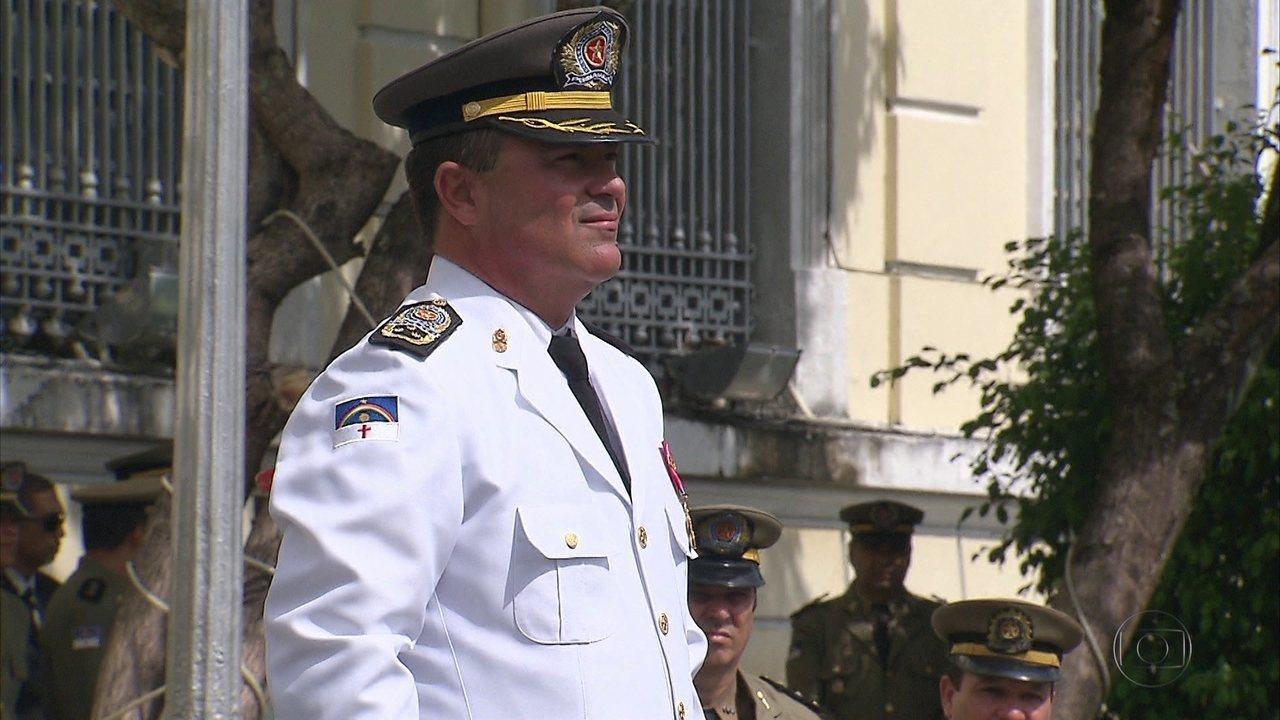 Novo comandante da Polícia Militar assume cargo durante cerimônia nesta segunda