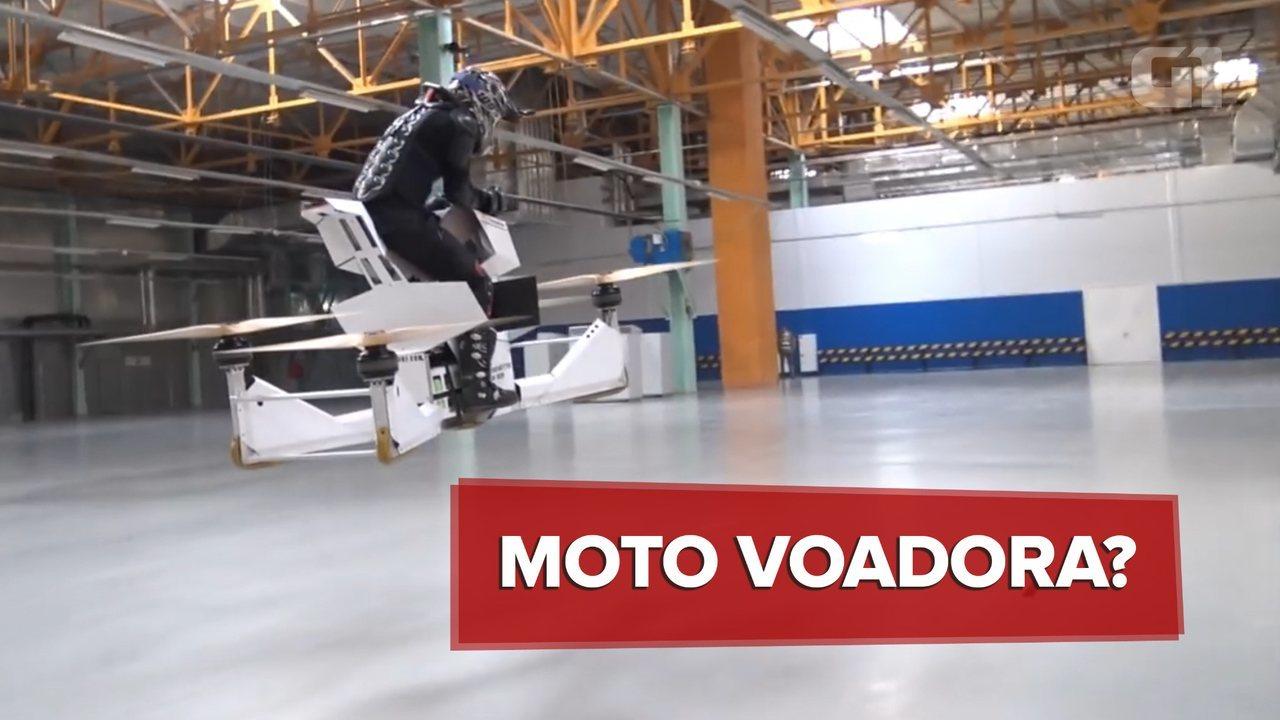 Vídeo mostra 'moto voadora' em testes